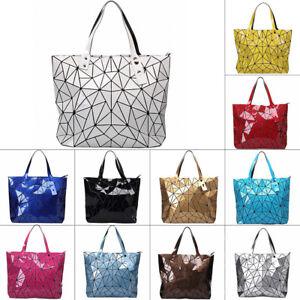 Quilted Sequin Shoulder Bag Geometric Lattice Laser Ladies Handbag Women Summer