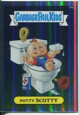 Garbage Pail Kids Chrome Series 1 Refractor Base Card 14a POTTY SCOTTY