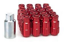 20 x RED D1 Aluminium Lock Lug Wheel Nuts (M12x1.5) with tool