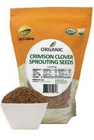 McCabe Organic Crimson Clover Sprouting Seeds, 1-pound