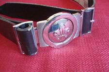 Cub Scout Beaver Leather belt and buckle, M/L, 45 inches/114 cm, new style