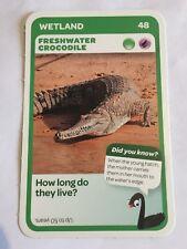Taronga Zoo Woolworths Aussie Animal Card #48 Freshwater Crocodile