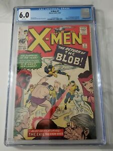 X-men #7 CGC 6.0 1964 2nd App. BLOB Magneto Scarlet Witch Quicksilver Toad 🔥🔥