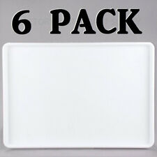"""6 PACK 18"""" x 26"""" White Display Storage Tray Bakery Donut Cafe Cookie Serving NEW"""