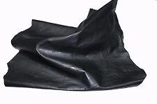 Italian thick Goatskin leather skin skins hide hides BLACK ANTIQUED 6sqf