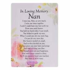Widdop & Co. Graveside Cards Memorial-Loving Memory Nan TY199
