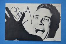 autographe Gilbert BECAUD chanteur sur carte Pathé Marconi