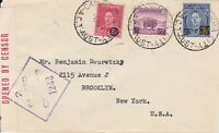 APH609) Australia 1942 small censored surface mail cover to USA
