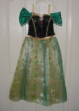 EUC Disney Store Girls PRINCESS ANNA Frozen Coronation Dress Costume Sz L 9/10
