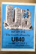 UB 40 '4th album' 1982 UK magazine ADVERT/Poster/clipping 11x8 inches