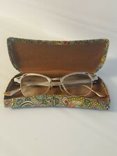 Vintage Cat Eye Glasses Bifocals Aluminum 12k Bausch Lomb Silver Black