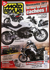 MOTO REVUE 11/2010; Essais Triumph Tiger 800/ Aprilia RSV4 APRC/ Scorpion Master