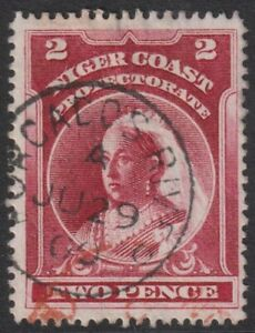 NIGER COAST PROTECTORATE   2d  Good Used with ' FORCADOS RIVER ' cds  (p250)