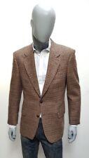 EX CON Men's Designer St Michaels M&S 40, M Brown Dog Tooth Check Tweed Jacket