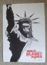 War For The Planet of The Apes 2017 mini film poster - 29.75 x 42 cm