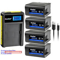 Kastar F980 Battery LCD Charger for Sony NP-F970 & CCD-SC7 CCD-SC55 CCD-TR12