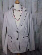 Gorgeous Classic Stone Beige MAINE Jacket Blazer Size 16