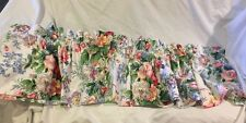 """��Vintage Martex Blouson Valance 80 X 17"""" White Floral Made In Usa West point"""