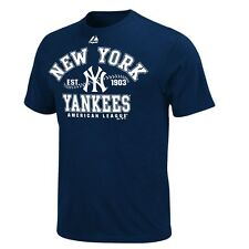 NY YANKEES ADULT NAVY DIAL IT UP T-SHIRT XXL NEW & OFFICIALLY LICENSED