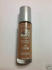 Maybelline Instant Age Rewind Foundation Tan (Dark-1) Silver Color Cap New.