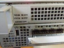 Cisco ASR1000 ASR1002-5G/K9 ASR1000-ESP-5G 4 GE SIP10 4GB DRAM 2 ASR1002-PWR-AC