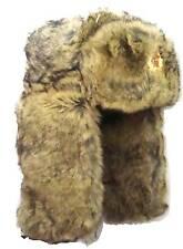 WINTER FUR COSSACK HAT USSR Soviet Military Mens L-XL Cream Trapper Ushanka
