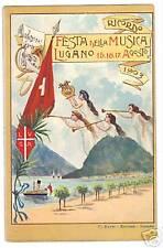POSTCARD 1903 CHROMO ADVERTISE LUGANO MUSIC FESTIVAL I