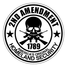 2nd Amendment Hard Hat Decal / Sticker Vinyl Safety Label 1789 Guns USA (White)