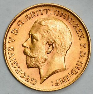 NICE UNCIRCULATED 1914 King George V Gold Half Sovereign