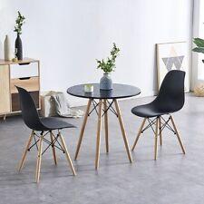 2er Set Stuhl Schwarz Küchenstuhl Wohnzimmerstuhl Esszimmerstuhl Skandinavien