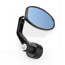 """Motorcycle 7/8"""" Bar End Grip Handle Rearview Mirror Cafe Racer Bobber Chopper"""