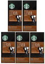 Starbucks Nespresso Espresso Kenya Coffee Compatible 50 Pods, 5 x 10 Pods