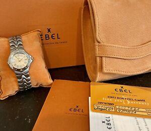 EBEL SPORTWAVE LADY DAMENUHR IN STAHL / GOLD BOX PAPIERE E6087621