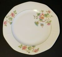 Vintage Victoria China 9 3/4 Dinner Plate Czechoslovakia Dinnerware Floral Rose