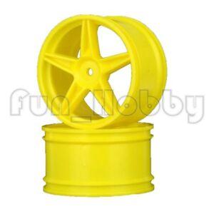 HSP 06024 Yellow Wheel Rim Pack 2 pcs for 1/10 RC Car