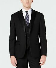 Ryan Seacrest Distinction Slim-Fit Stretch Black Tuxedo Jacket 44R Black