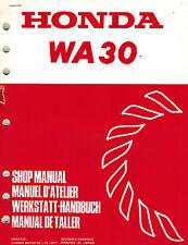 HONDA WA30 WATER  PUMP  SHOP  MANUAL  XX