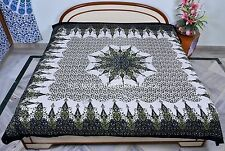 Indian Green Tapestry Cotton Throw Mandala Wall Hanging Bedding Bedspread Decor