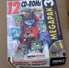 Megapak 3 III 10 Game Titles on 12 CD's CyClones + TFX + Reunion +++ IBM Big Box