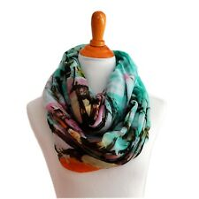 Infinity scarf loop cowl wrap Coconut trees pattern