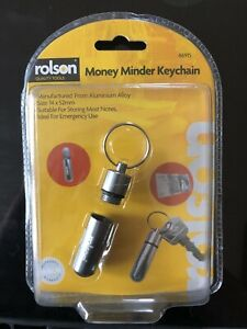 Rolson Hide Your Money Minder Key Chain Emergency Cash Stash Capsule Key ring