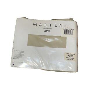 Martex Queen Flat Sheet - 100% Cotton - Basketweave - Irregular Very Light Brown