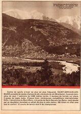 74 SAINT GERVAIS LES BAINS AERODROME CHAINE DU MONT BLANC IMAGE 1930 PRINT