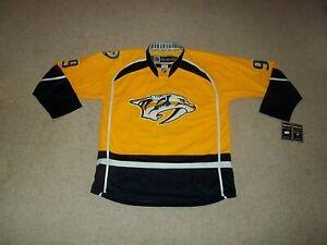 NWT sewn Filip Forsberg Nashville Predators Reebok Center Ice Gold sz 52 Jersey