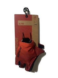 Specialized SL Pro Cycling Short Finger Gloves Large Rocket Red / Crimson