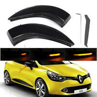 2x Dynamic LED Wing Mirror Indicator Repeater Light For Renault Captur Clio