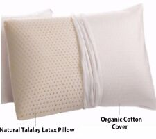 Natural Talalay Latex Pillow with Organic Cotton Covering - STANDARD Soft