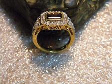 *Estate 2.90 C. Victorian Era Raspberry Rhodolite Garnet .925 Gilt Ring Size 7.5