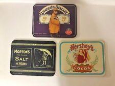 Bristolware Morton's Salt,Hershey's cocoa, Uneeda Biscuit Metal Advertising Sign