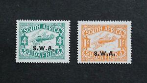 SOUTH WEST AFRICA - 1930 SCARCE BOB AIRMAIL O/P SET UNUSED MNH RR